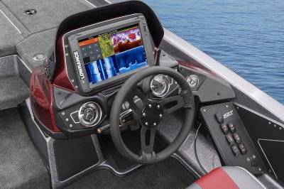fishing boat with lowrance 12 touch graph