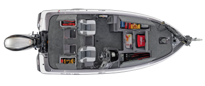 lots of storage for tackle and rods in this boat