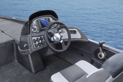 large console area on quality bass boat