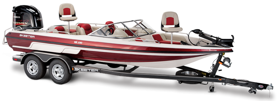 2018 Skeeter SL210 Fish & Ski Boat For Sale profile image.