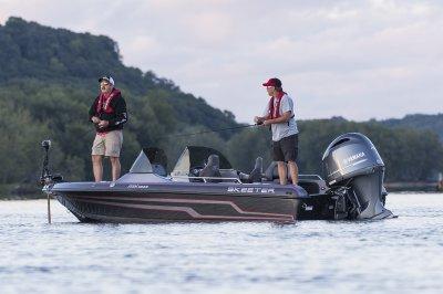 multi species deep v boat fishing for walleye
