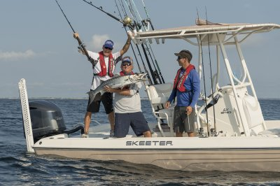 sx240 bay boat catches big fish