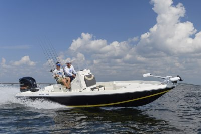 reliable four stroke yamaha propels boat