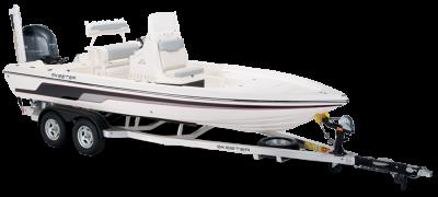 sx210 bay boat on skeeter built trailer