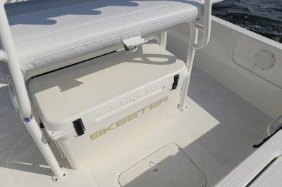 engel cooler come standard on this affordable bay boat