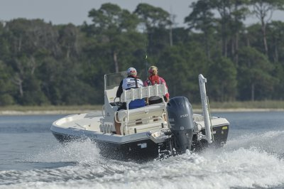 smooth riding bay boat handles rough water with ease