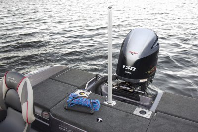 ski pylon comes standard on solera fish n ski