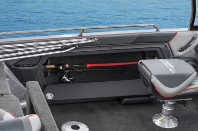 port side rod storage on fish n ski boat