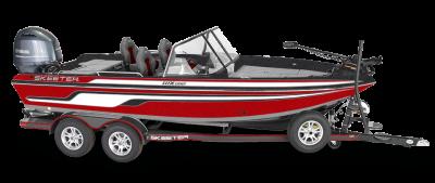 walleye deep v fishing boat on skeeterbuilt trailer