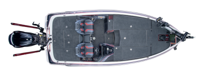 overhead shot of skeeter fx21 apex edition bass boat