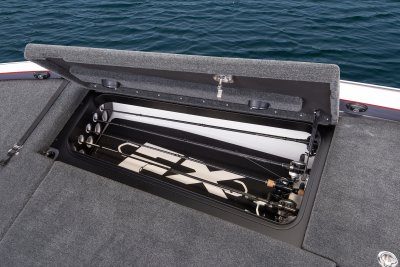 starboard side rod storage comparment on skeeter bass boat