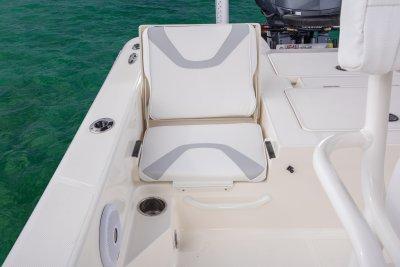port side rear jumpseat on sx240 bay boat