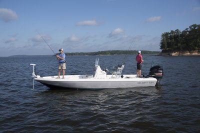 two guys fishing from skeeter sx230 bay boat
