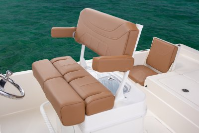 SX 230 Bay boat lean post with adjustable seats