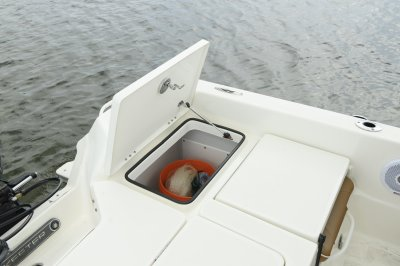 rear storage compartment on sx2250 center console