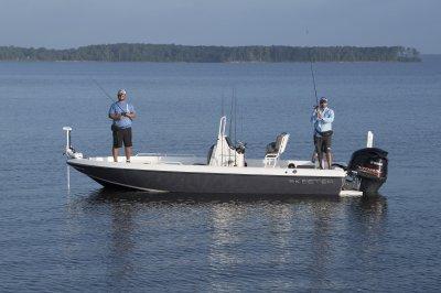 port side of sx2250 fishing in open bay