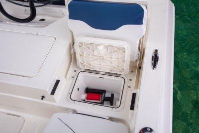 jumpseat storage box on sx210 bay