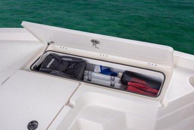 starboard side storage locker open