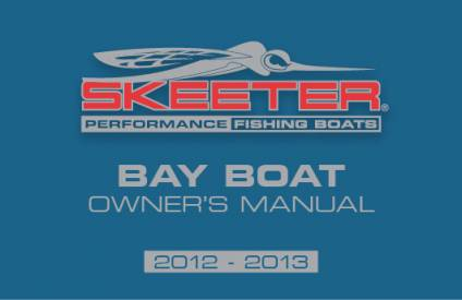 B Boat Owners Manuals | Skeeter Boats
